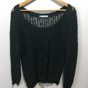 Maurices scoop knock green knit sweater. Large